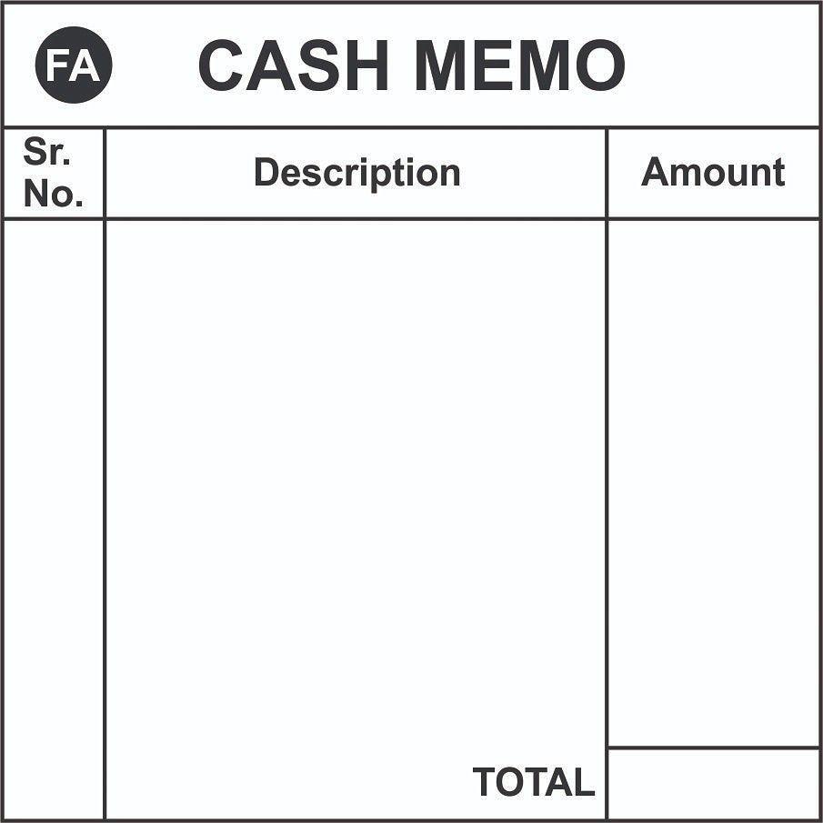 Cash Memo Sample Design By Msa Graphics Ibraheem Ansari Memo Cash Design