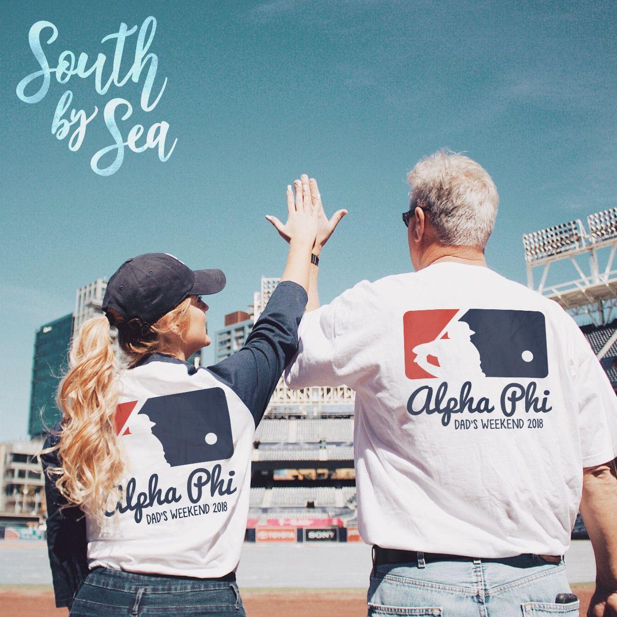 7ebd35d5 Alpha Phi | A Phi | Dad's Weekend Design | Baseball Theme | Grand Slam |  South by Sea | Greek T-Shirts | Custom Greek Apparel | Sorority T-Shirts