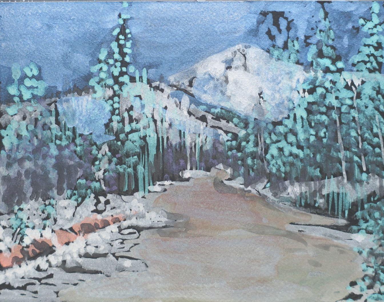 Wyoming Winter Source Photo Taken By Gary Keimig Fine Art Art Painting
