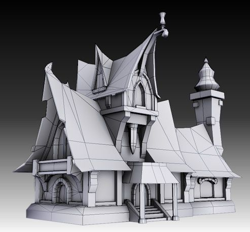 Fantasy props (Based on WoW concept) - Polycount Forum