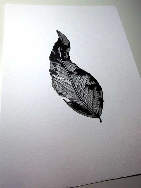 Fritz & Christie Leaf Skeleton Illustration Available @ Etsy.com