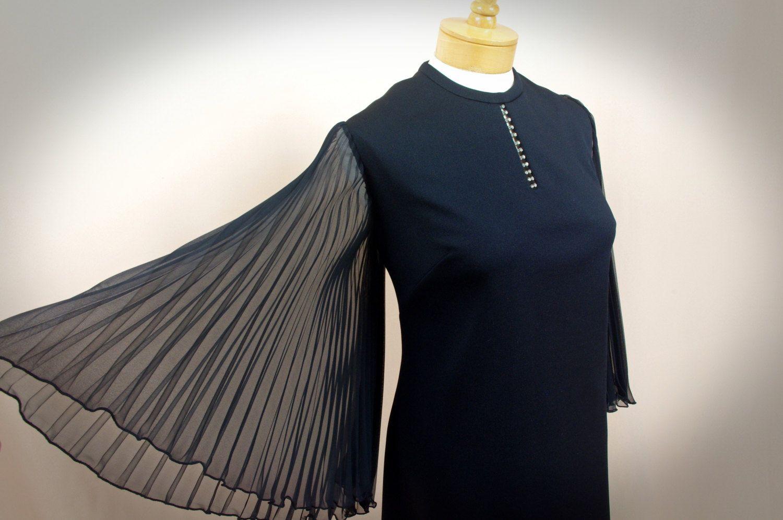 S maxi dress angel wing sleeve s dress black dress