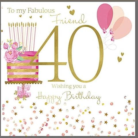40th Birthday Card Friend 40th Birthday Cards 40th Birthday Balloons 30th Birthday Cards