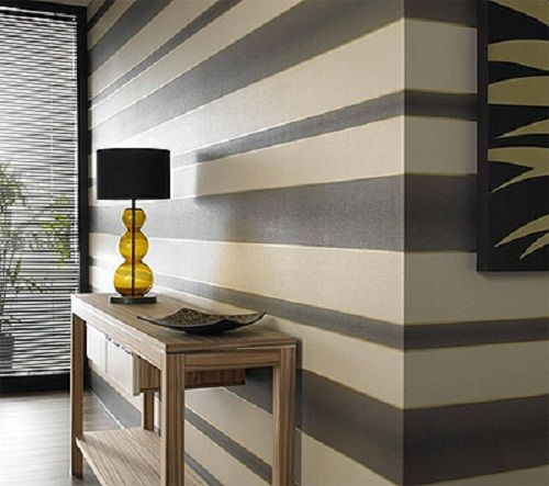 Wall Paint Design Stripes Simple black and white or white and