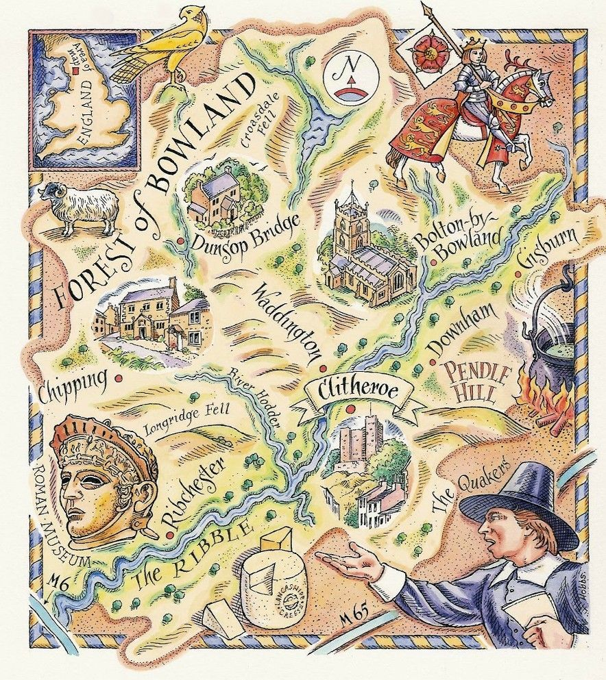 Forest of Bowland Map by David Hobbs Maps and Plans Pinterest