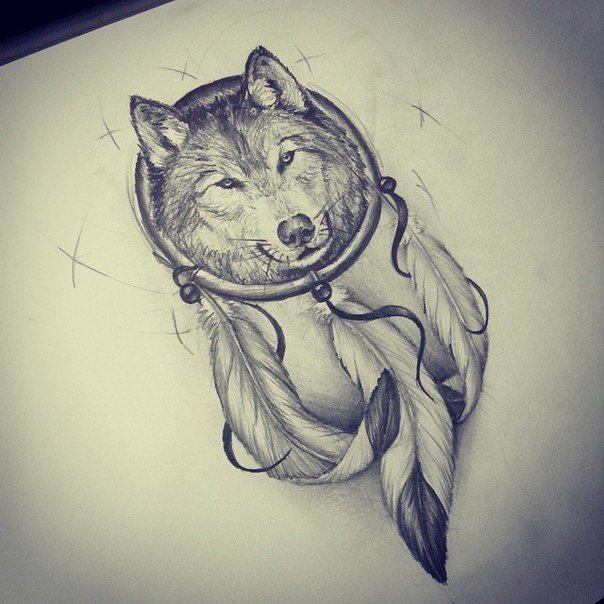 Wall Vk Drawings Tattoos Feather Tattoos Wolf Tattoos