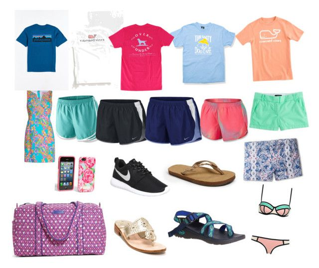 Beach trip  by madelinestroupe on Polyvore featuring polyvore, fashion, style, Lilly Pulitzer, Patagonia, NIKE, J.Crew, Cotton Candy, Rainbow, Chaco, Jack Rogers, Vera Bradley, Vineyard Vines and clothing