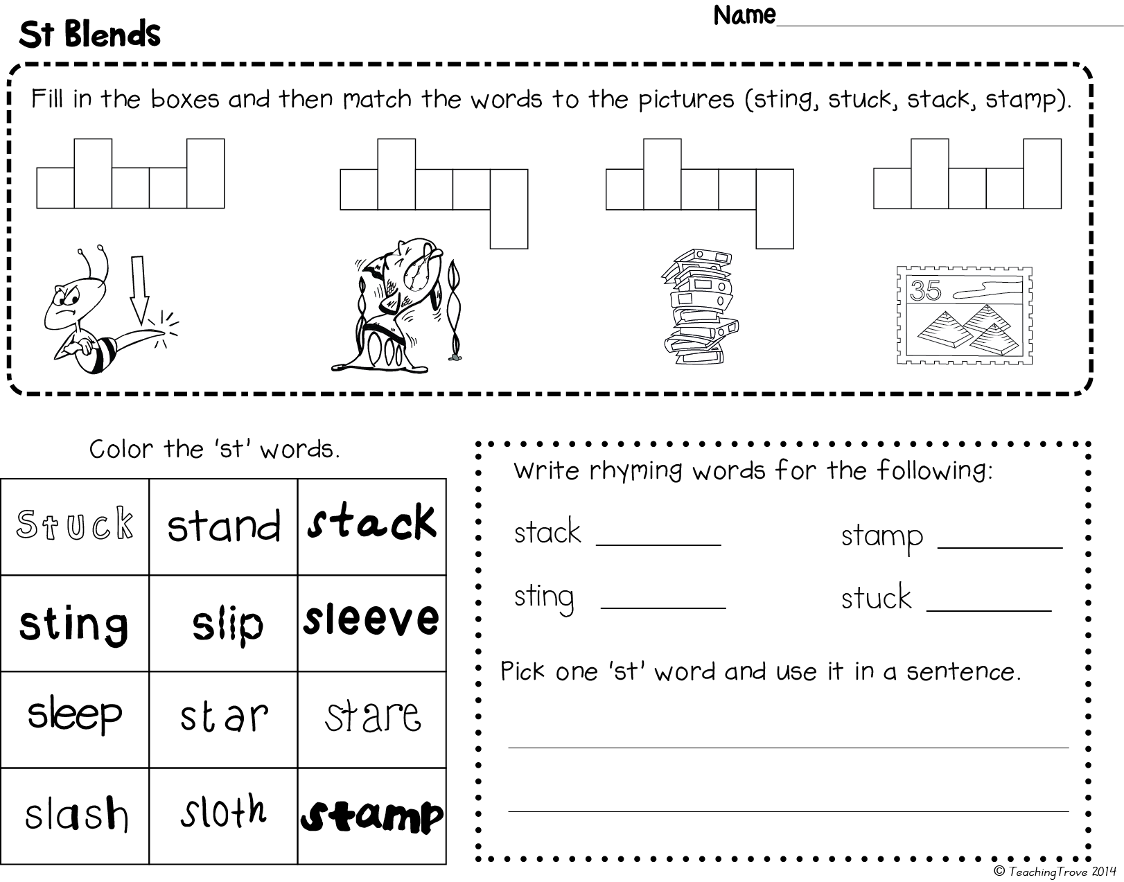 Worksheet On Consonant Blends