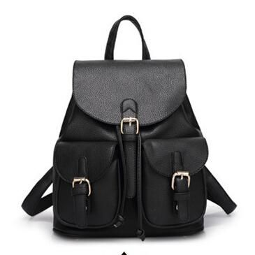 Women Leather Backpacks Large Capacity Female School Backpacks For Girls Pu Preppy Vintage Ladies Bagpack Sac a Dos Femme