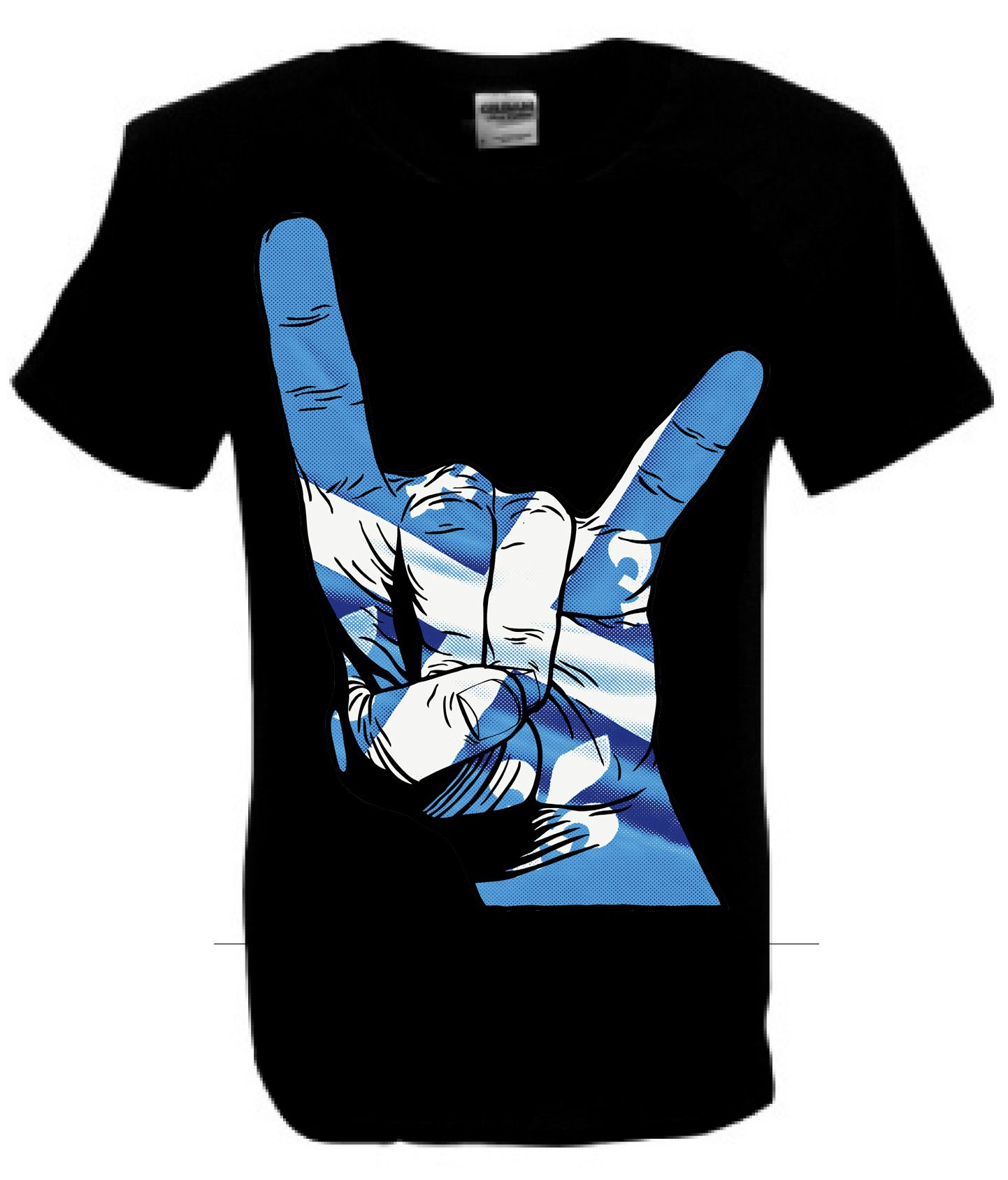 Quebec Flag Black Horns T-Shirt