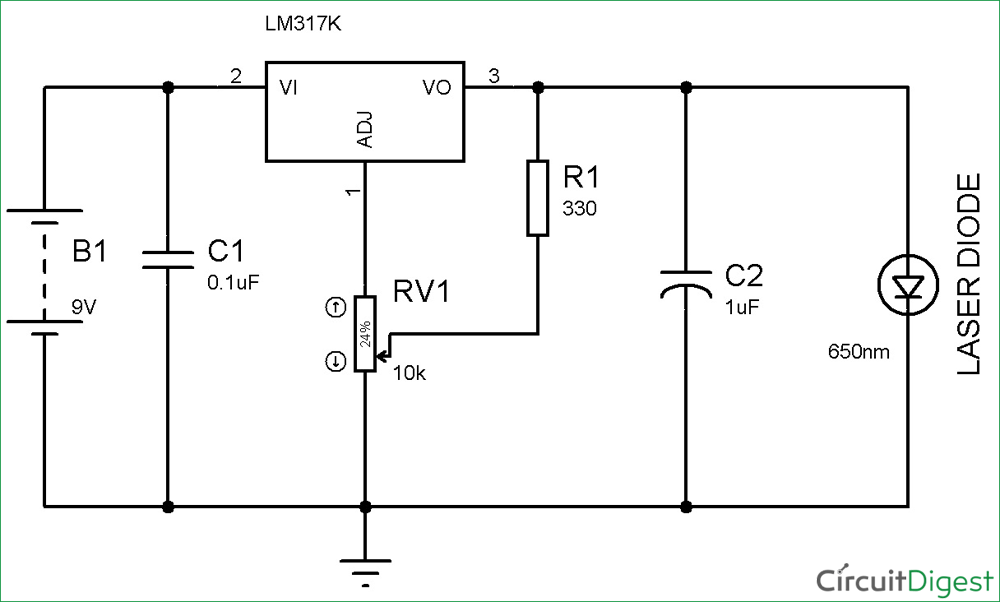 Circuit diagram of Laser Diode Driver Circuit Design | Electronic ...