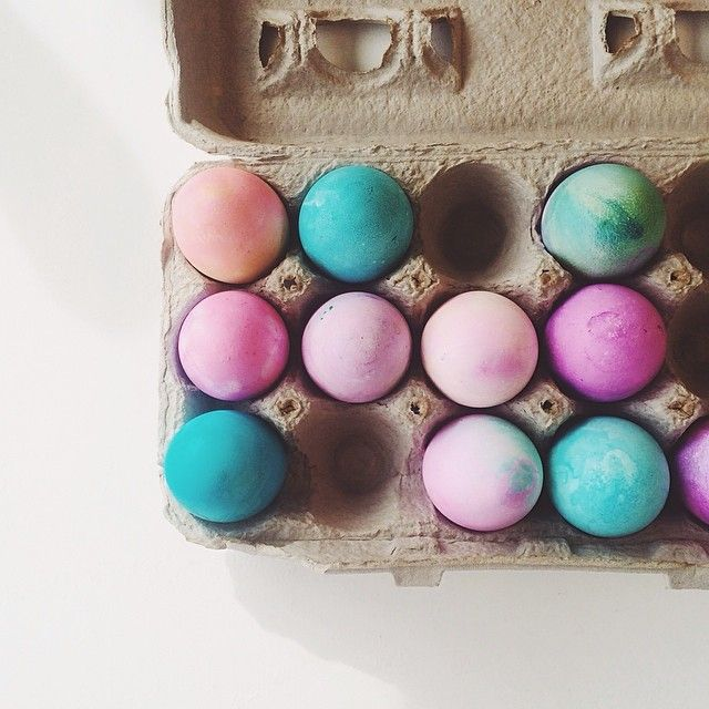 Dyed eggs with the kids at work today.