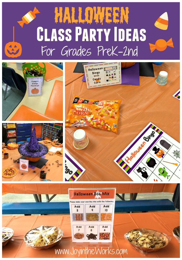 Halloween Class Party Ideas Grades Prek 2nd School Halloween Party Classroom Halloween Party Kindergarten Halloween Party