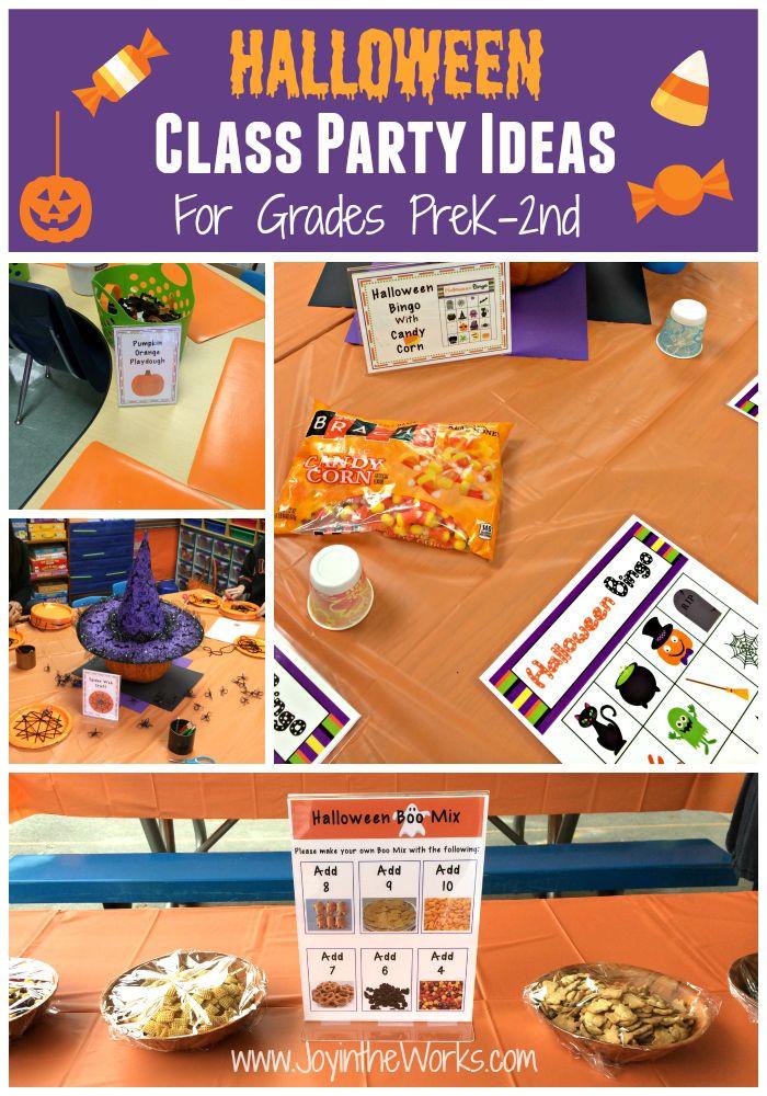 halloween class party ideas grades prek 2nd - Preschool Halloween Bingo