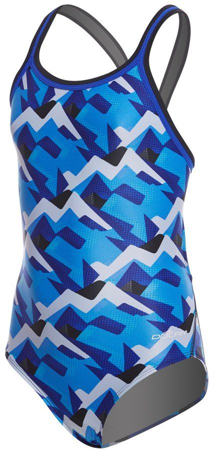220481822214f Dolfin XtraSleek Eco Girls' Denali DBX Back One Piece Swimsuit 8157894
