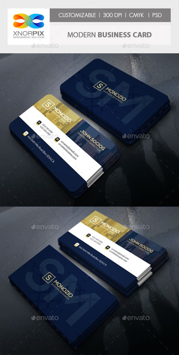 Modern Business Card | Business cards, Card templates and Business