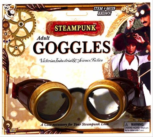 SteamPunk Cosplay Santa Claus Gothic Style Gold Rim Clear Eye Glasses NEW UNUSED