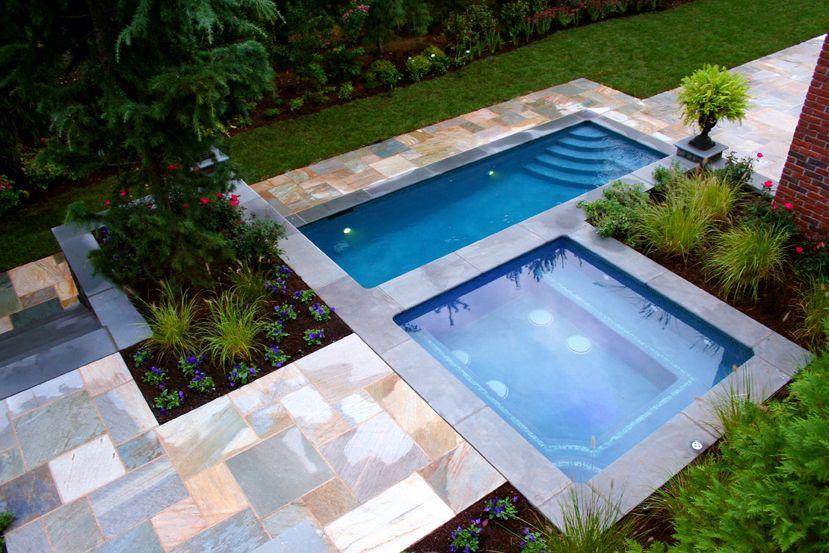 Custom Contemporary Pool And Spa Design Ideas Paramus New Jersey