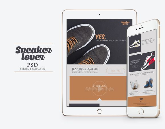 Sneakerlover Email Template Psd By Vector Chamel Creative Designs