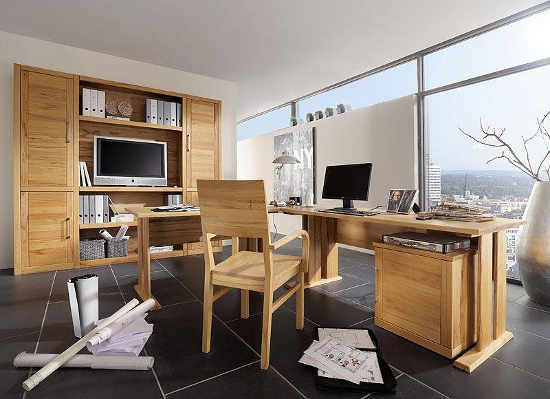 Büromöbel design holz  Büroeinrichtung Holz - Schreibtisch - Aktenschrank - Rollcontainer ...