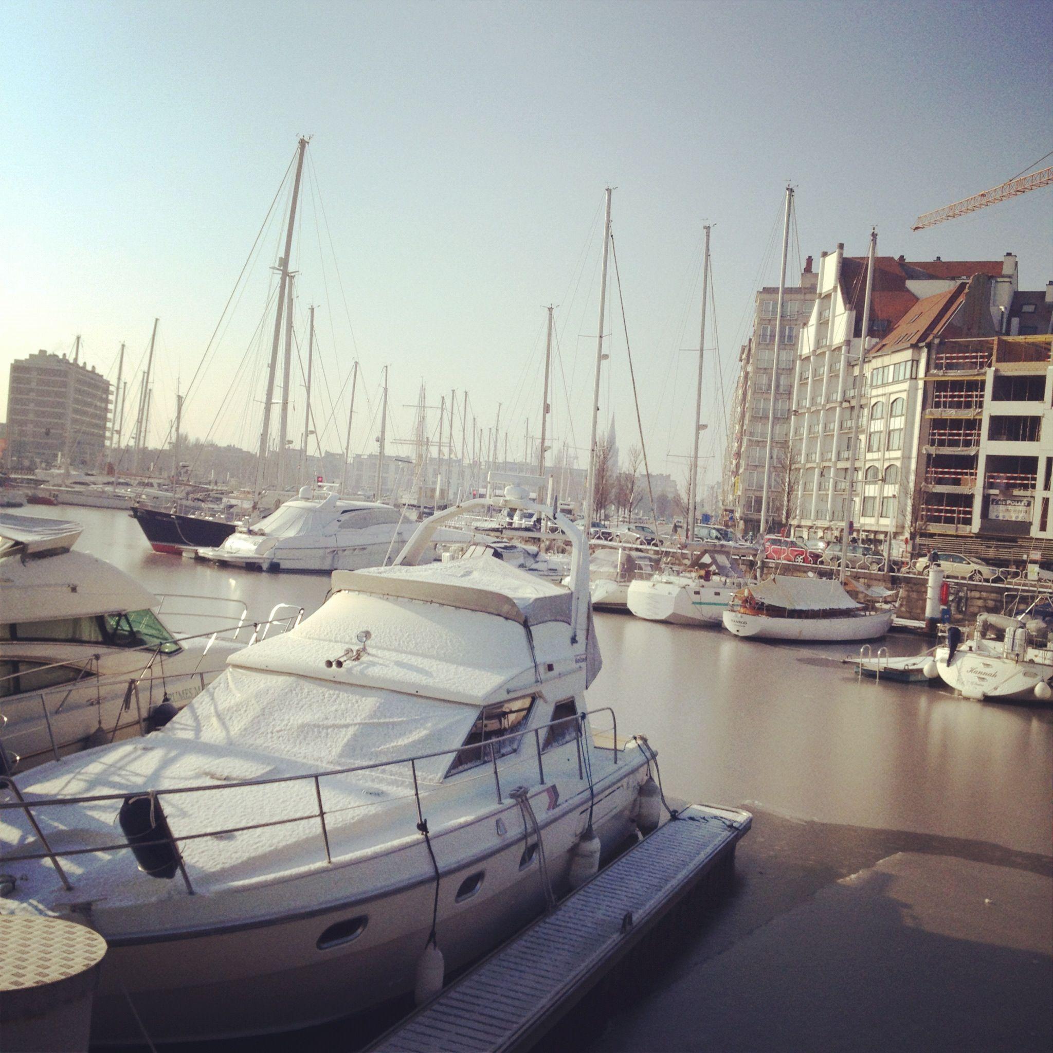 Harbour Belgium Travel Boat