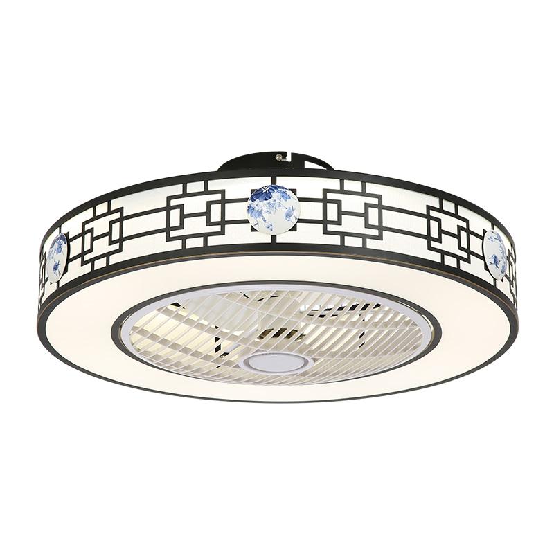 Minimalismus Deckenventilator Mit Led Lampe In Rund Fur Wohnzimmer Ceiling Fan With Light Fan Light Led Ceiling Fan