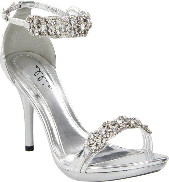 12951781f4e Silver 431-Sterling Rhinestone Shoes