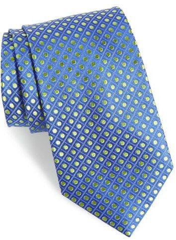 Men's Nordstrom Men's Shop Boardwalk Dot Silk Tie