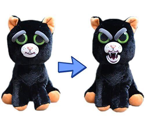 William Mark Feisty Pet Black Cat Katy Cobweb Stuffed Attitude Plush Juguetes 6 Years