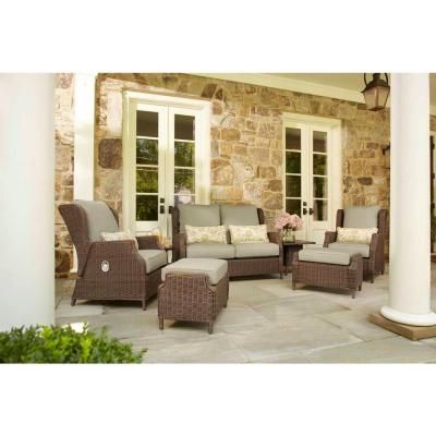 Brown Jordan Vineyard Patio Motion Lounge Chair In Meadow With