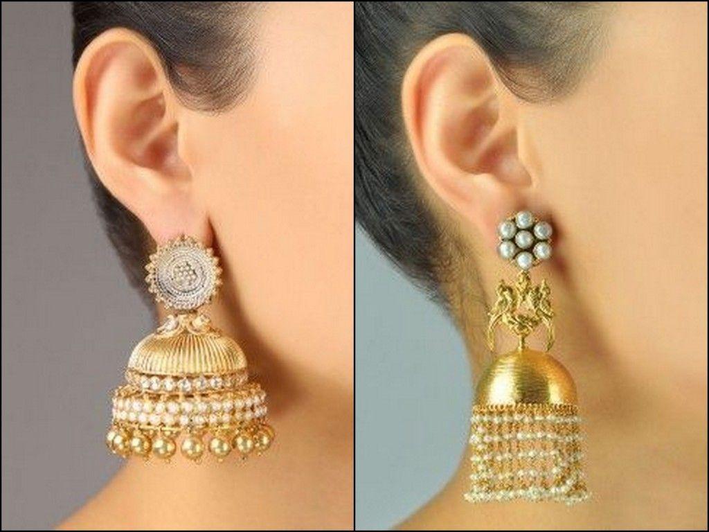 c81caee45 Amazing Jhumka Earrings Ideas | fashionsummary | Earrings, Gold ...