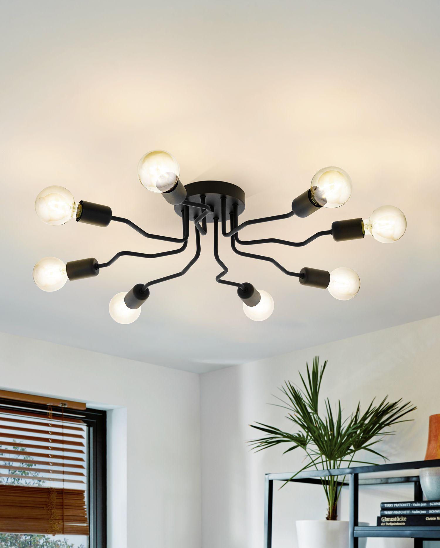 Beauty in Black | Interior lighting, Ceiling lights, Lamp decor