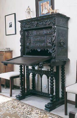 Bargue o espa ol del siglo xvii muebles antiguos y de - Muebles siglo xviii ...