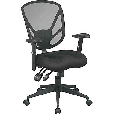 Office Star Chairs office star - chaise fonctionnelle en mailles, noire | ~ work time