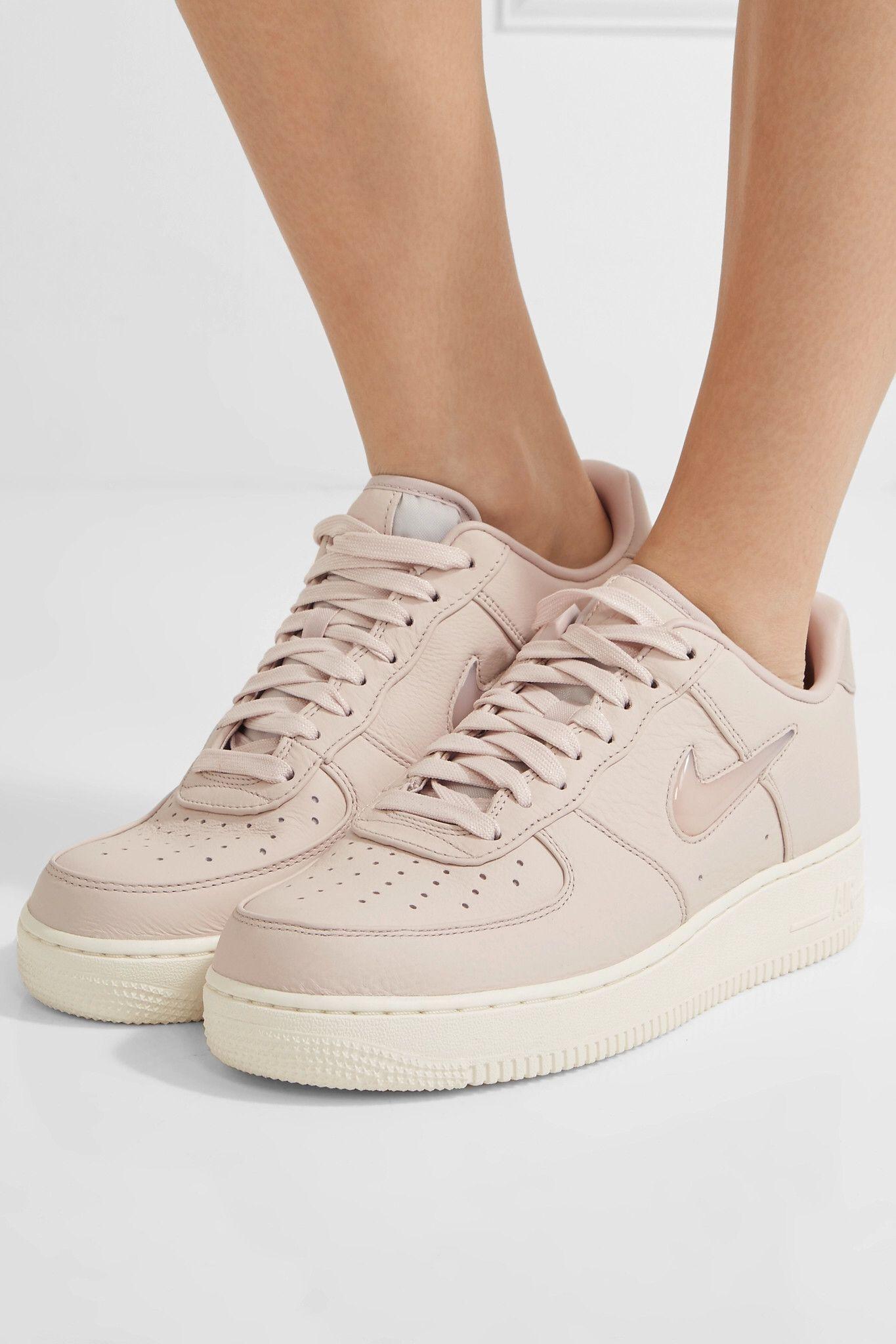 Pastel Pink Nikelab Air Force 1 Leather Sneakers Nike Sneakers Leather Sneakers Nike