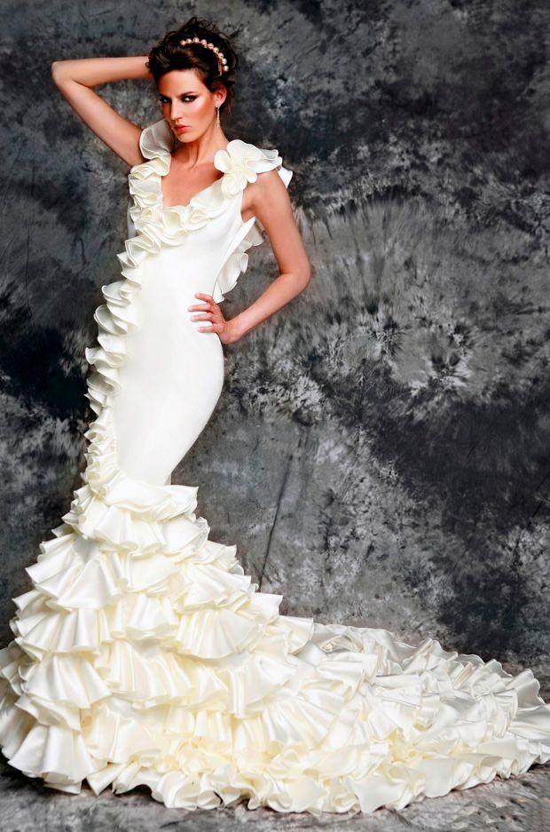 Disenadores vestidos de novia flamencos