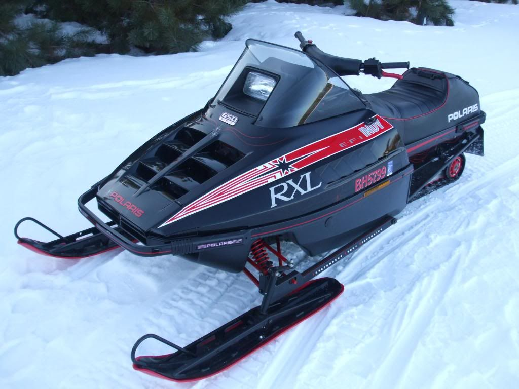 1990 5 Polaris Rxl Vintage Sled Snowmobile Old Tractors