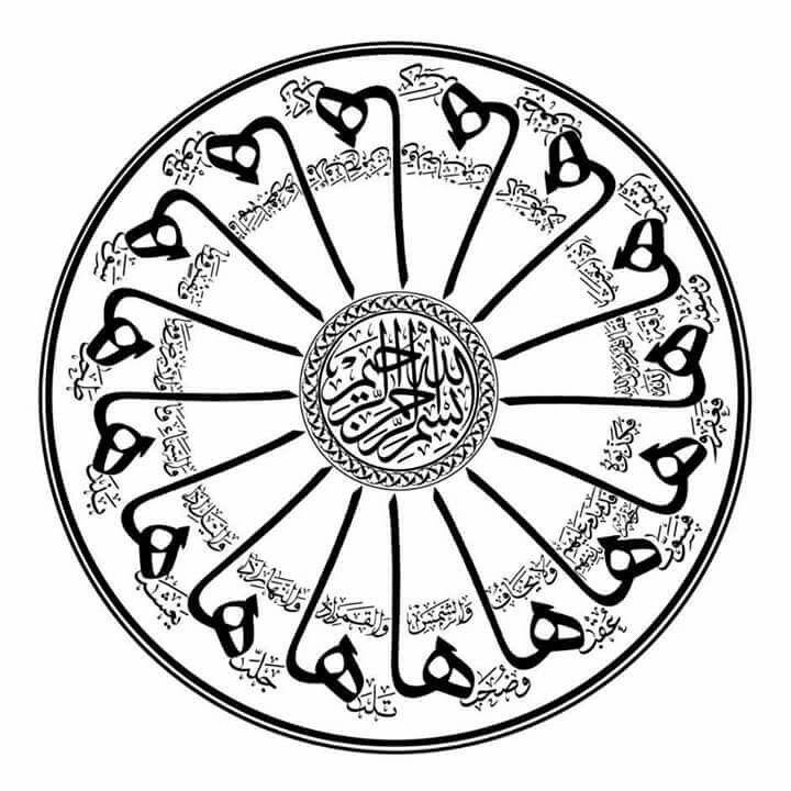 Pin de abdullah bulum en خطوط سورة الشمس | Pinterest