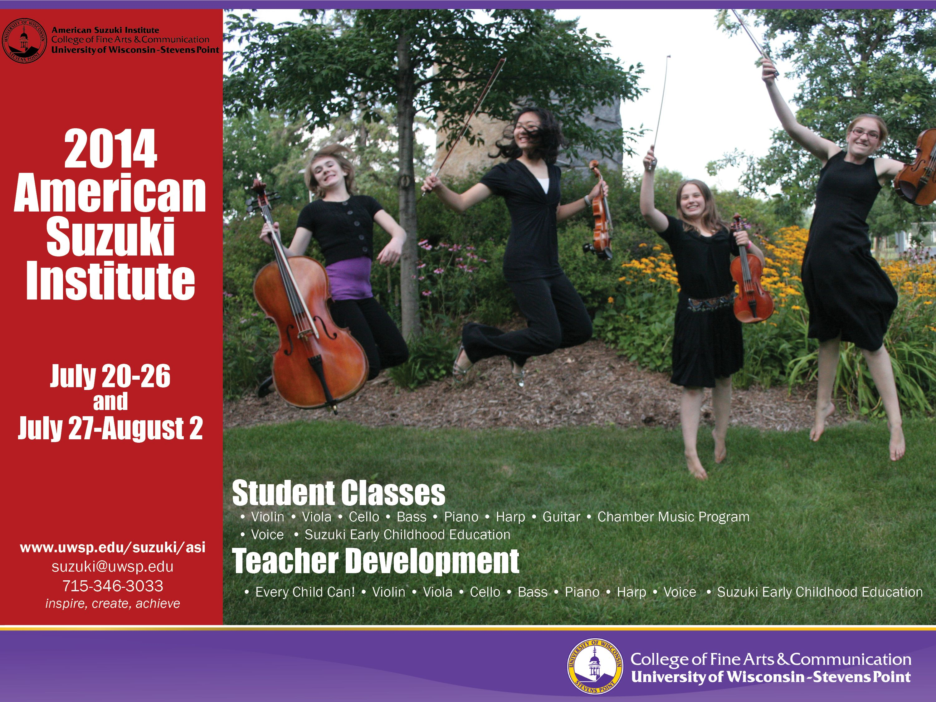 Register Now For The American Suzuki Institute July Is Coming Quickly Teacher Development Childhood Education Early Childhood Education