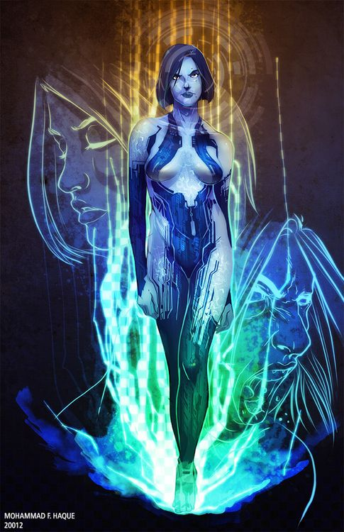 Cortana - by Mohammad F. Haque Check out more from Mohammad right here: http://www.the-gutters.com/artist/mohammad-f-haque/