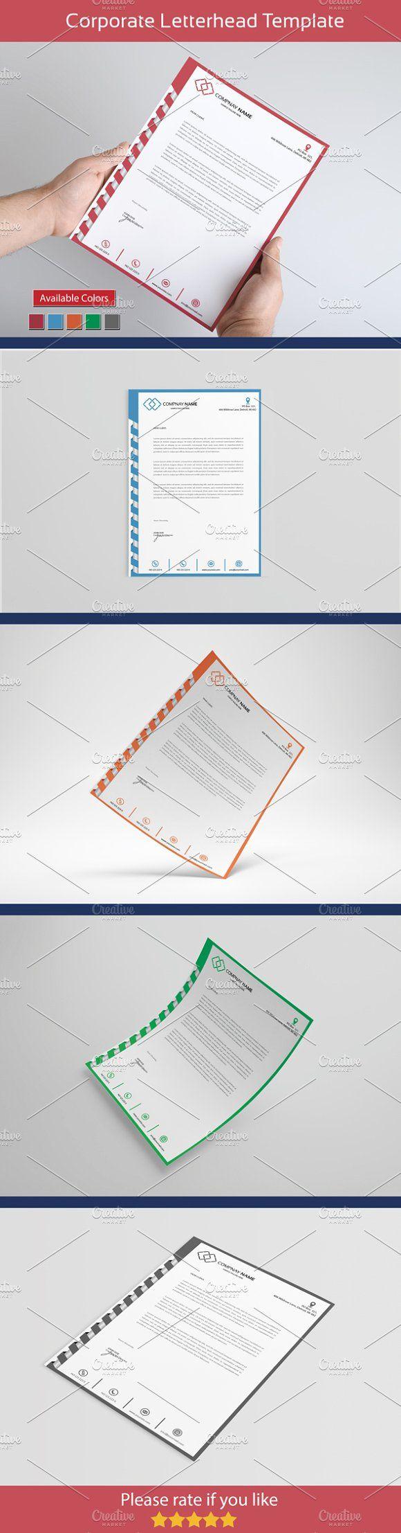 letter format on letterhead%0A Corporate Letter Head
