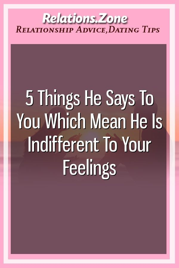 what does feeling indifferent mean