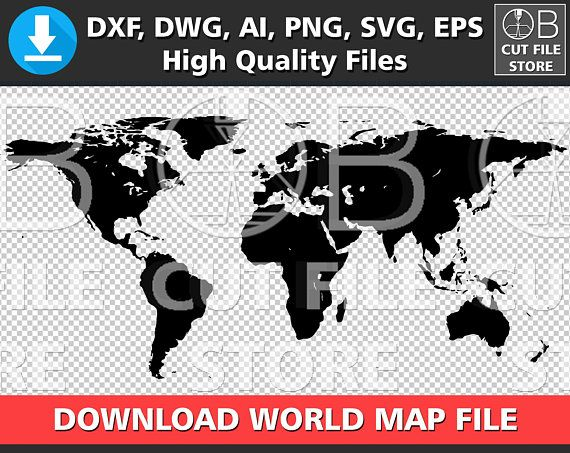 World map silhouette dxf dwg ai svg png eps files download world map world map silhouette dxf dwg ai svg png eps files download world map digital cut file cuttable world map vector clipart instant download silhouettes gumiabroncs Images