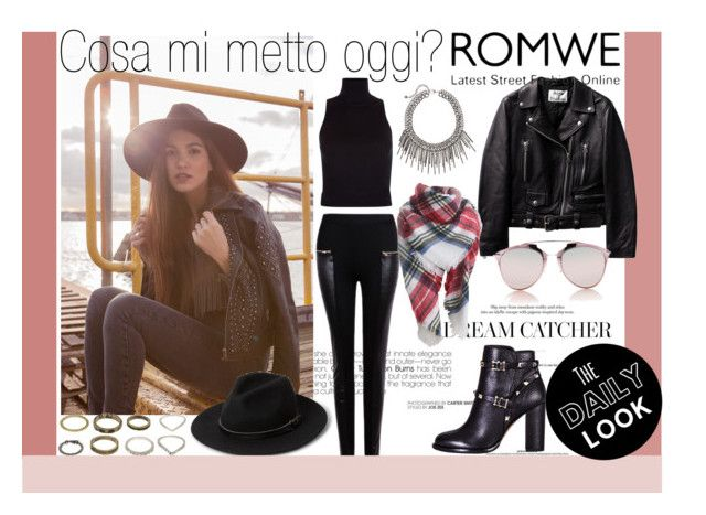 """""""#ROMWE"""" by paula1991 ❤ liked on Polyvore featuring Blue Vanilla, Valentino, Christian Dior, MANGO, women's clothing, women, female, woman, misses and juniors"""