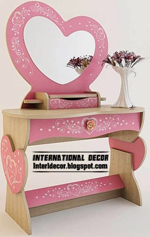 Girls Dressing Table In Pink Lovely Design, Buy Dressing Table
