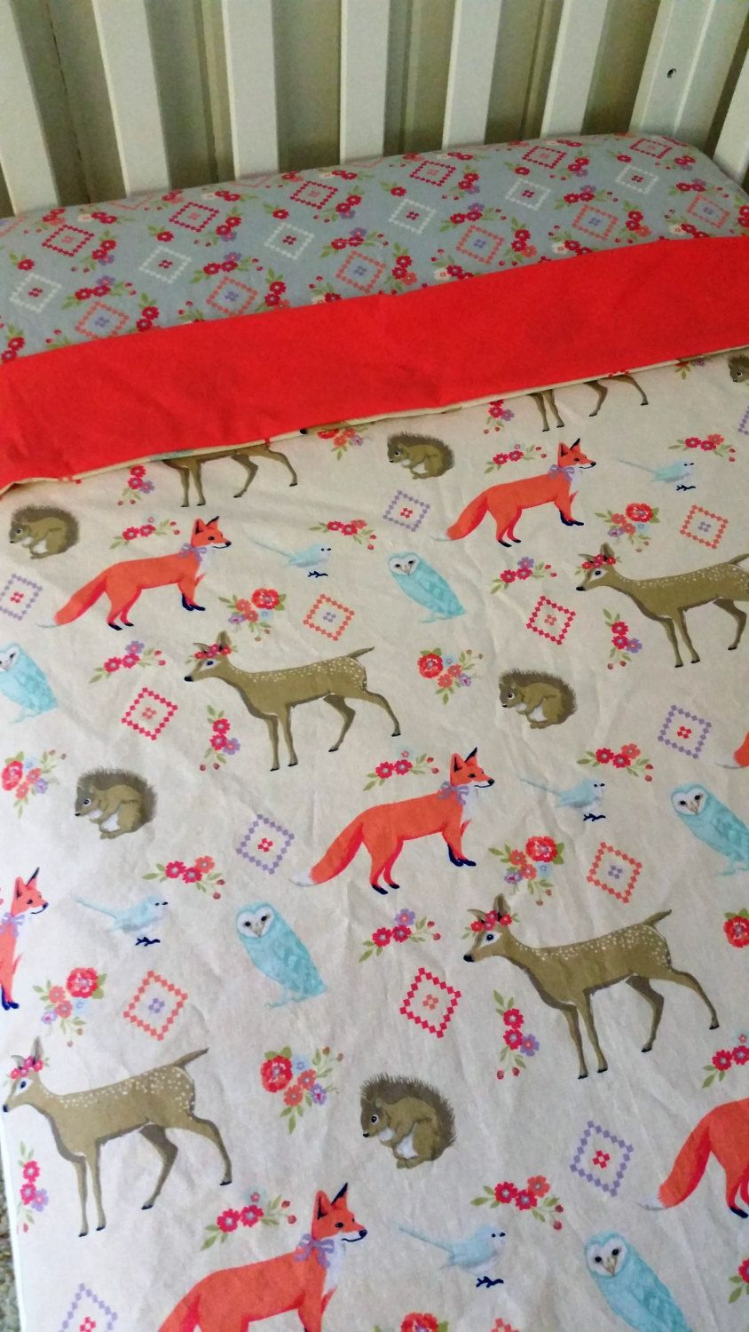 Baby bed sheet pattern - Woodland Duvet Cover Girl Duvet Cover Toddler Girl Bedding Baby Girl Bedding