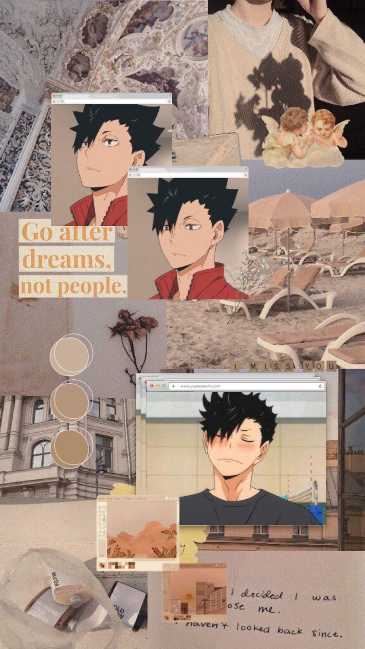 kuroo tetsurou aesthetic wallpaper in 2020 Haikyuu
