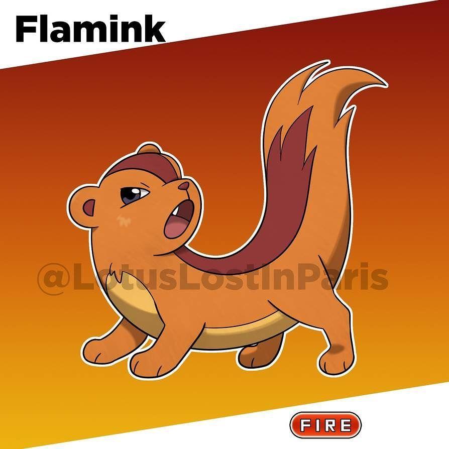Camille Collette On Instagram Flamink Flame Mink The Mink Pokemon Ability Blaze Hidden Ability Flash Fire Gender Ratio Pokemon Pokemon Fake Deviantart