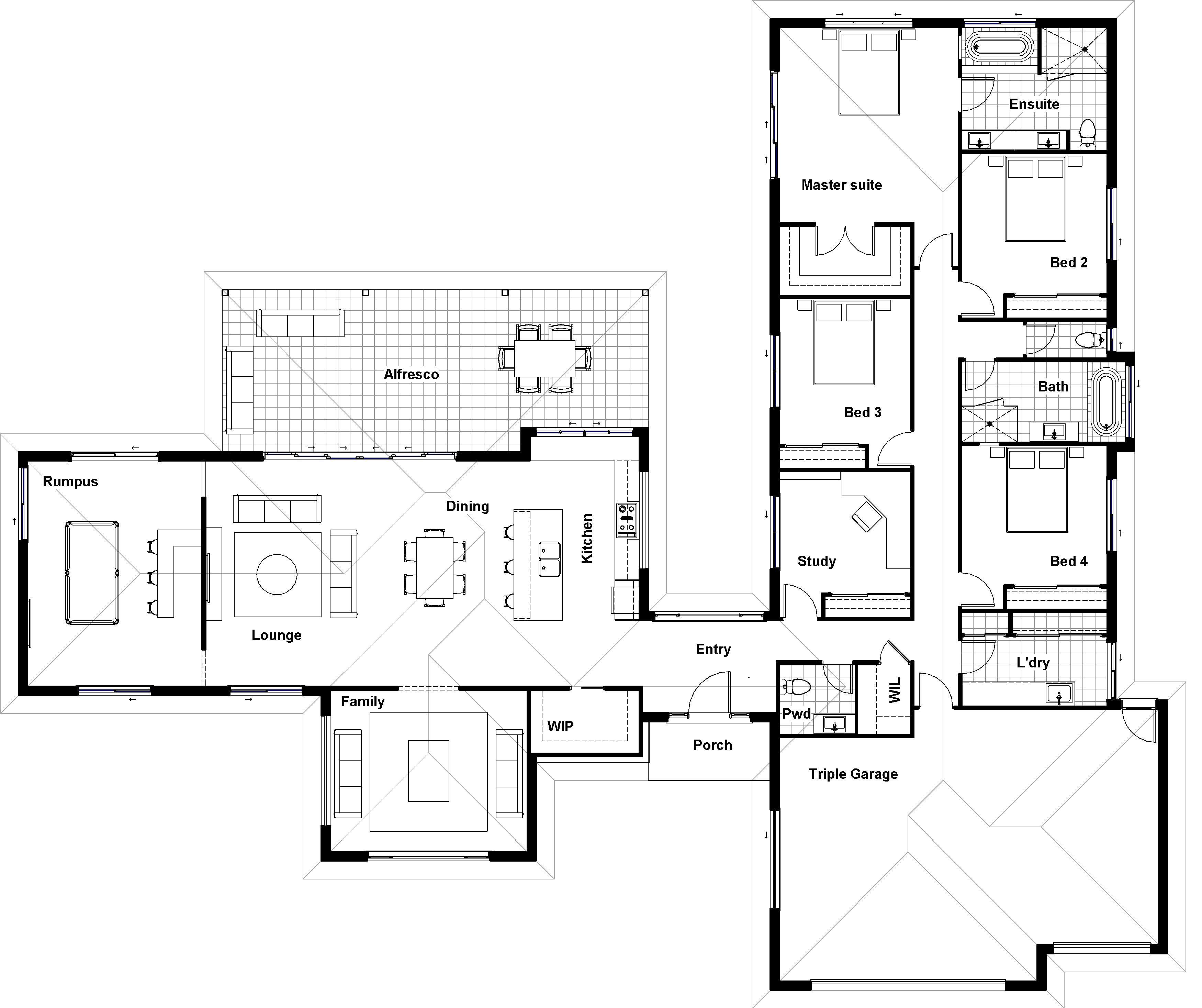 Floor Plan Friday Separate living and bedroom wings