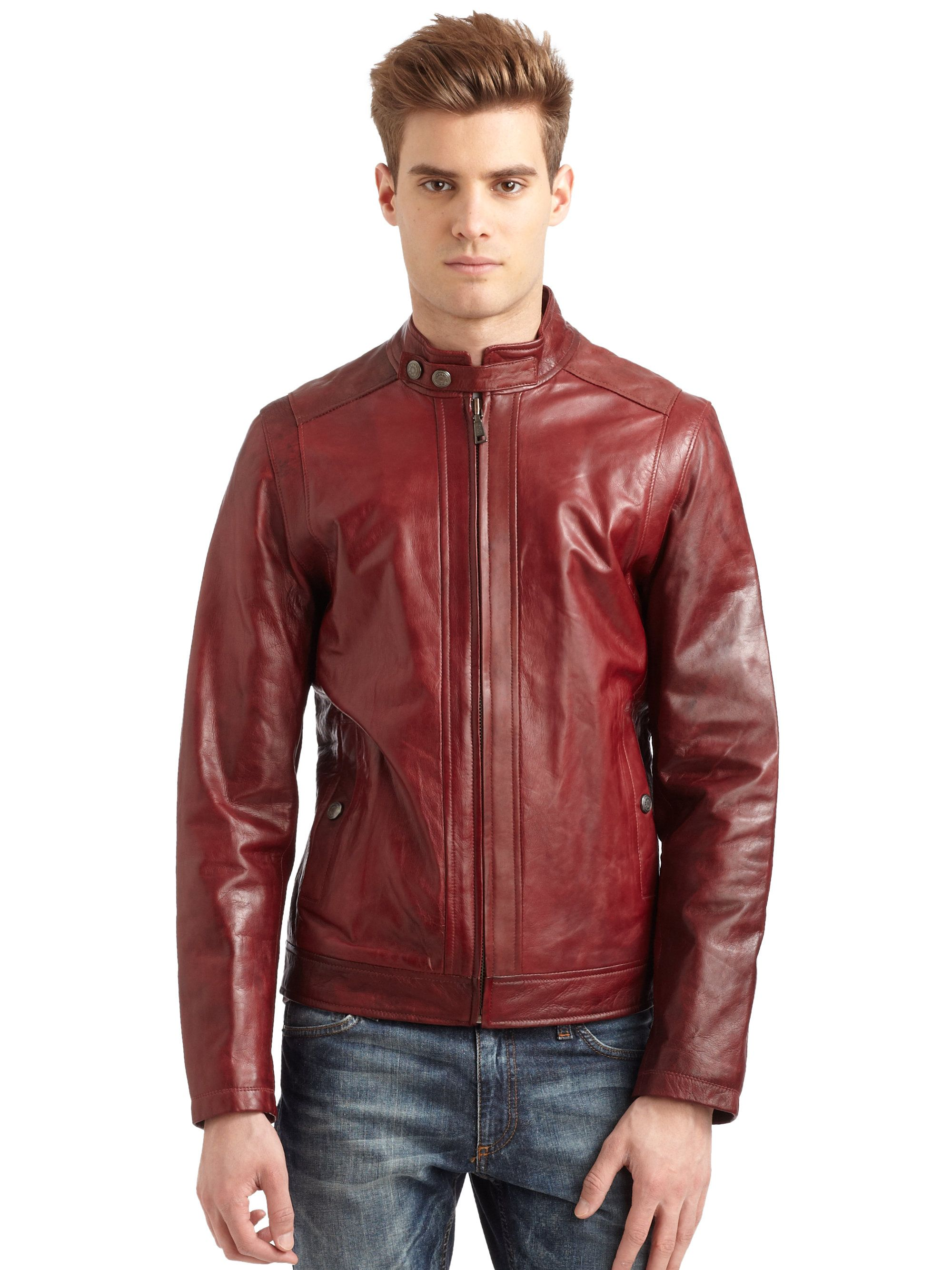 red leather jacket men - Google Search | red | Pinterest | Red ...